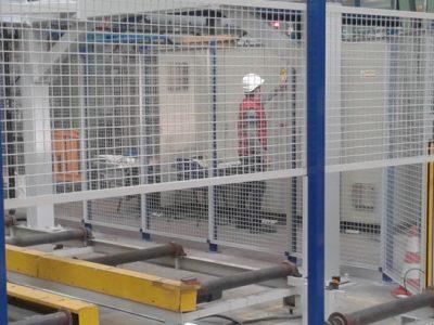 Vallado perimetral para evitar acceso a máquina